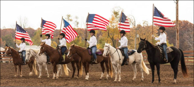 Hoedown Horses and Flags